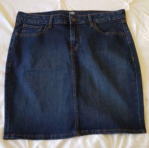 Old Navy Split Back Denim Skirt